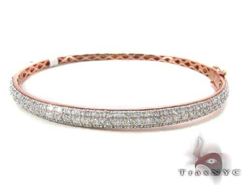 Prong Diamond Rose Gold Bracelet 33855 Diamond