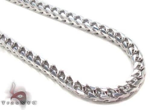 Silver Franco Chain 36 Inches, 5mm, 138.8 Grams Silver