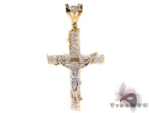 CZ 10K Gold Cross 34060 Gold