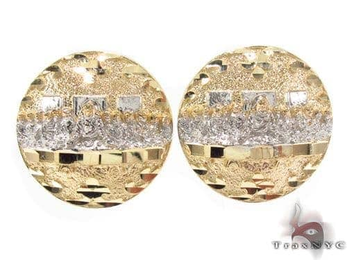 CZ 10K Gold Last Supper Earrings 34168 Metal