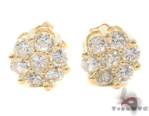 CZ 10K Gold Earrings 34224 Metal