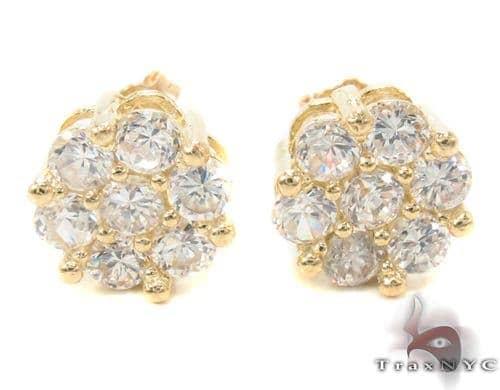 CZ 10K Gold Earrings 34224 Metal