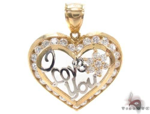 CZ 10k Two Tone Gold Charm 34280 Metal