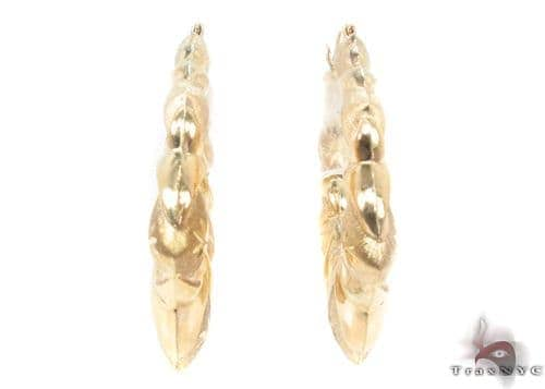 10K Gold Hoop Earrings 34289 Metal