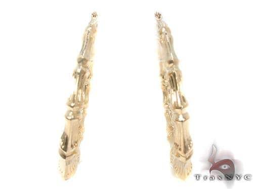 10K Gold Hoop Earrings 34295 Metal