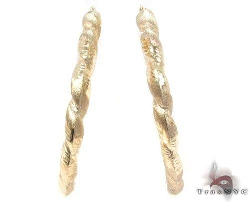 10K Gold Hoop Earrings 34300 Metal