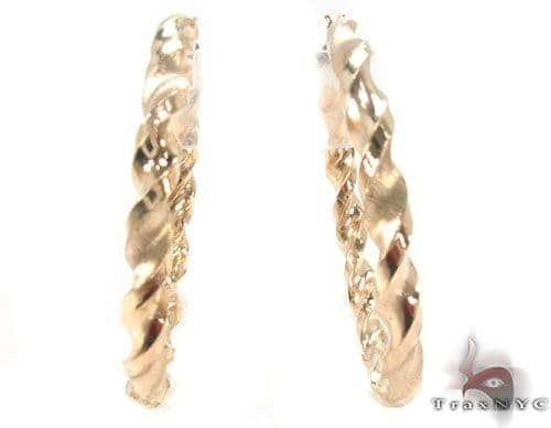 10K Gold Hoop Earrings 34307 Metal