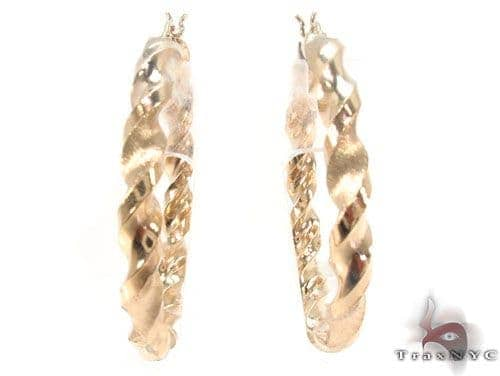 10K Gold Hoop Earrings 34308 Metal