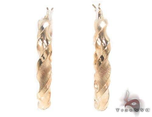 10K Gold Hoop Earrings 34309 Metal