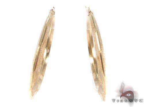 10K Gold Hoop Earrings 34312 Metal