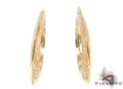 10K Gold Hoop Earrings 34313 Metal