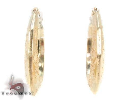 10K Gold Hoop Earrings 34315 Metal
