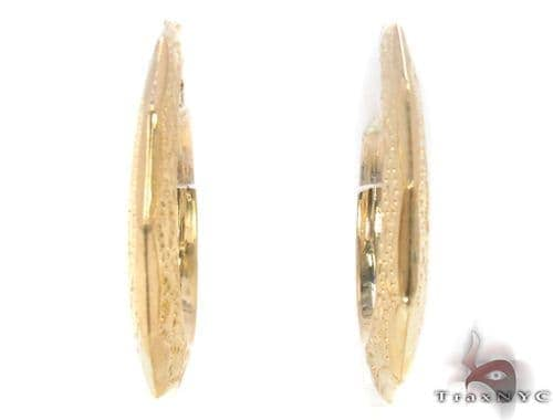 10K Gold Hoop Earrings 34314 Metal