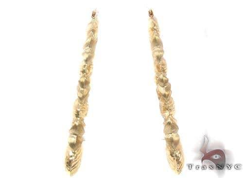10K Gold Hoop Earrings 34319 Metal