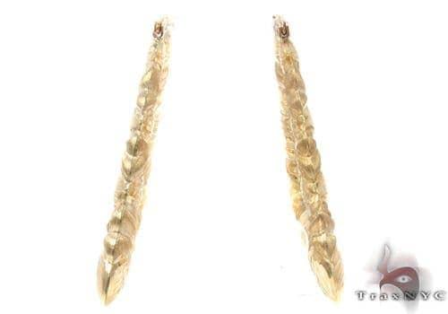 10K Gold Hoop Earrings 34320 Metal