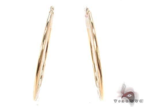 10K Gold Hoop Earrings 34322 Metal