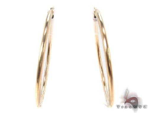 10K Gold Hoop Earrings 34323 Metal
