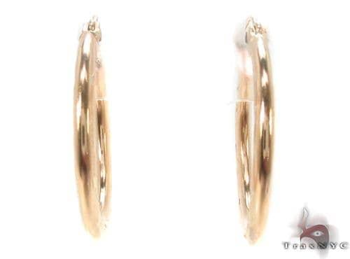 10K Gold Hoop Earrings 34324 Metal