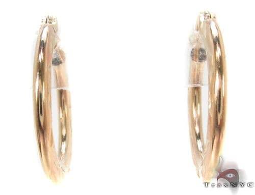 10K Gold Hoop Earrings 34325 Metal