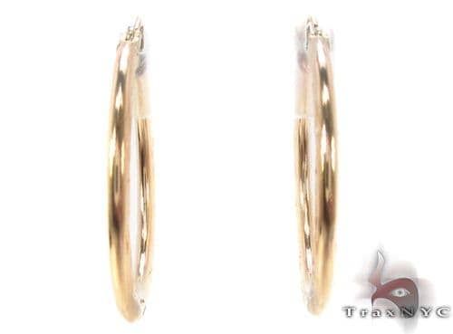 10K Gold Hoop Earrings 34327 Metal