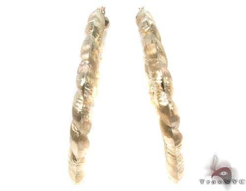 10K Gold Hoop Earrings 34333 Metal