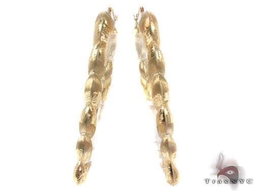 10K Gold Hoop Earrings 34339 Metal