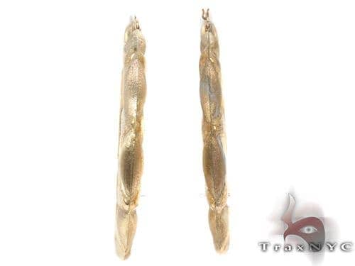 10K Gold Hoop Earrings 34341 Metal