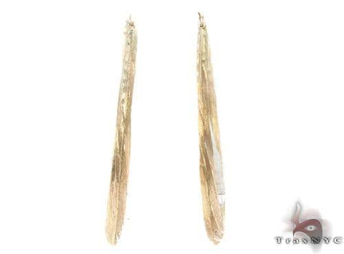 10K Gold Hoop Earrings 34342 Metal
