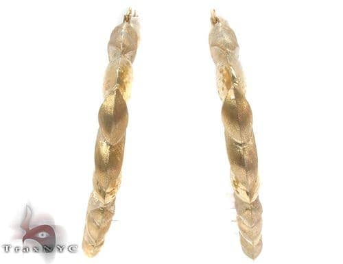 10K Gold Hoop Earrings 34343 Metal