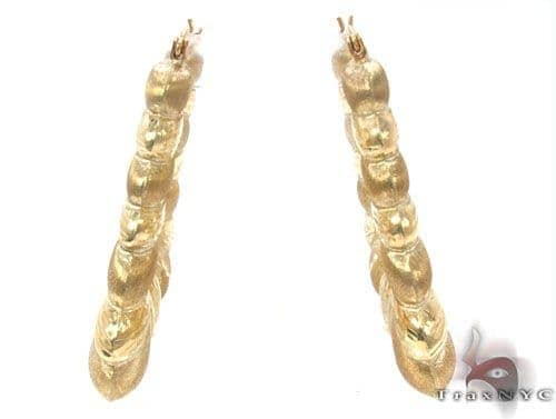 10K Gold Hoop Earrings 34346 Metal