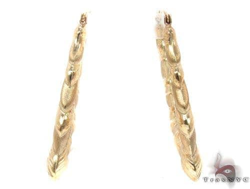10K Gold Hoop Earrings 34348 Metal