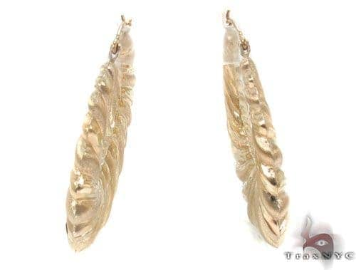 10K Gold Hoop Earrings 34350 Metal
