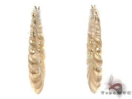 10K Gold Hoop Earrings 34351 Metal