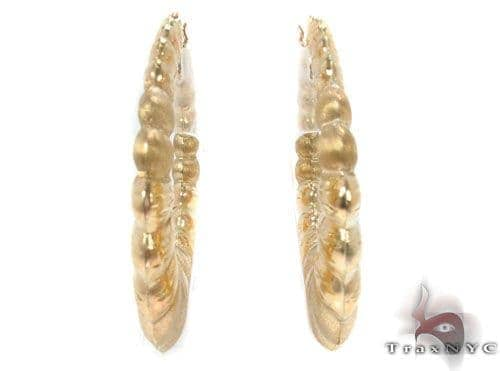 10K Gold Hoop Earrings 34355 Metal
