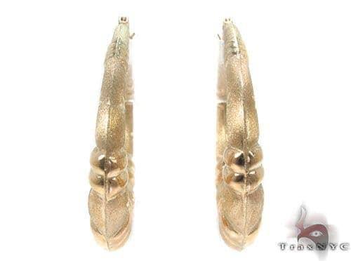 10K Gold Hoop Earrings 34357 Metal