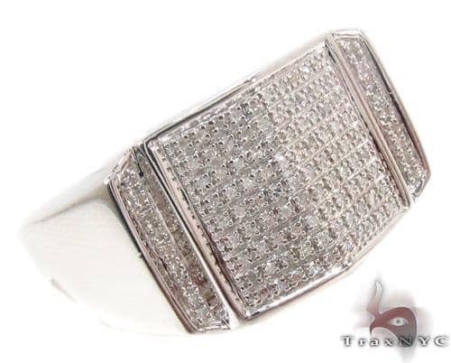 Prong Diamond Silver Ring 34414 Metal