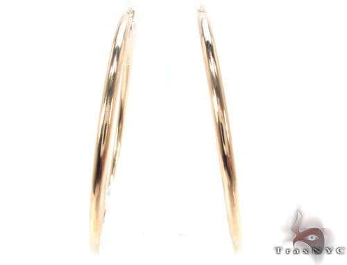 10K Gold Hoop Earrings 34424 Metal