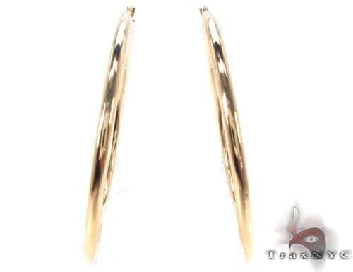 10K Gold Hoop Earrings 34425 Metal