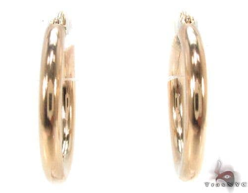 10K Gold Hoop Earrings 34426 Metal