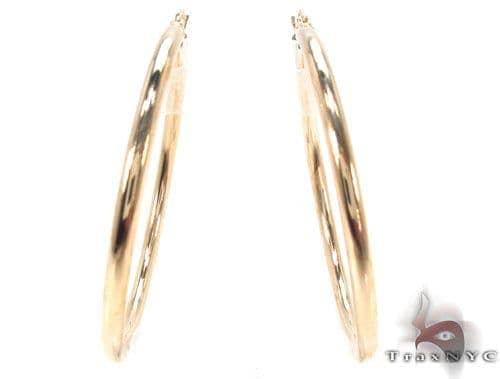 10K Gold Hoop Earrings 34427 Metal