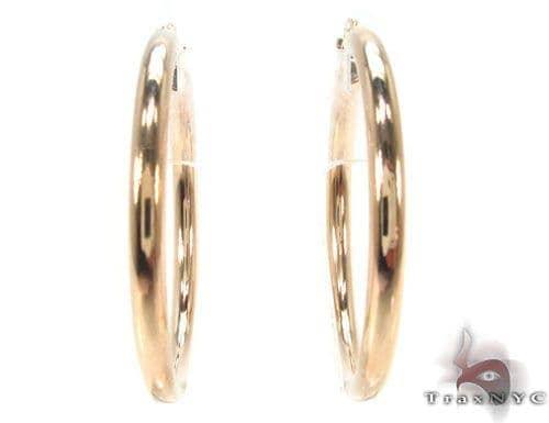 10K Gold Hoop Earrings 34430 Metal