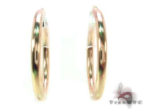 10K Gold Hoop Earrings 34431 Metal