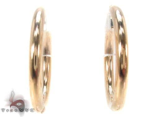 10K Gold Hoop Earrings 34432 Metal
