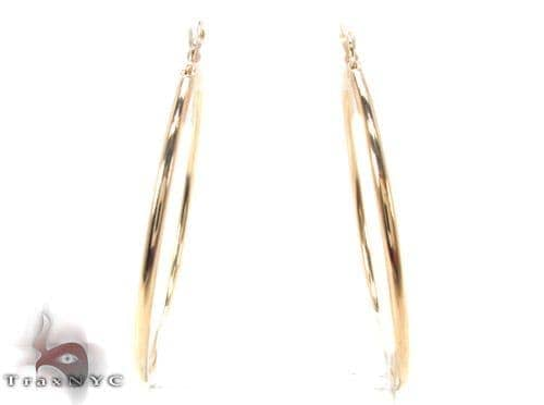 10K Gold Hoop Earrings 34435 Metal
