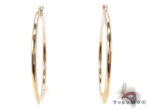 10K Gold Hoop Earrings 34436 Metal