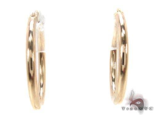 10K Gold Hoop Earrings 34440 Metal