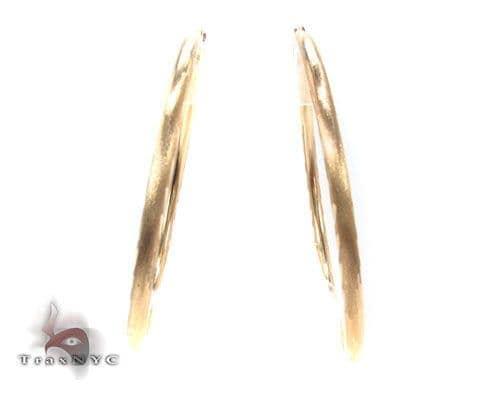 10K Gold Hoop Earrings 34443 Metal