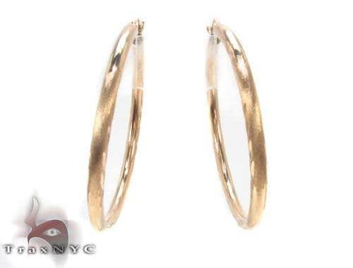 10K Gold Hoop Earrings 34445 Metal