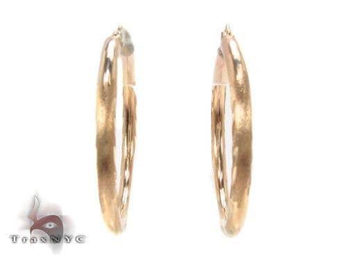 10K Gold Hoop Earrings 34446 Metal