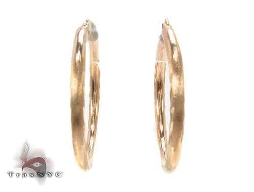 10K Gold Hoop Earrings 34447 Metal